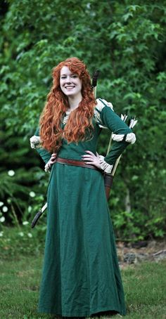 Custom Adult Merida Brave dress costume. $320.00