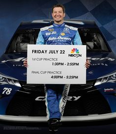 Tune-in to NBC Sports Network this Friday to watch the #78 Toyota Camry in practice rounds @1:30 & 4:00pm ET.  Will Martin Truex Jr. lock-in the pole award for the second time this season?