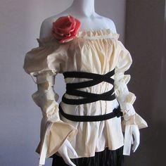 Steampunk Clothes. Renaissance Blouse. Gothic Lolita Blouse. SHIPS NOW. Plus Size Blouse. Halloween. Peasant Blouse. Pirate Blouse.. $95.00, via Etsy.