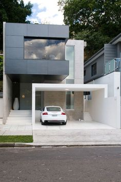 Home design, Minimalist House Architecture With Black Facade Design Color Equipped With Garage Design Outdoor: New minimalist house design with modern minimalist house facade Architecture Design, Residential Architecture, Orange Architecture, Minimal Architecture, Building Architecture, Contemporary Architecture, Modern Minimalist House, Modern House Design, Minimalist Interior