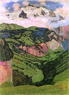 bofransson:  Ferdinand Hodler, The Jungfrau from Isenfluh, 1902