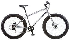 Mongoose Men's Malus Fat Tire Bike, Silver - http://mountain-bike-review.net/products-recommended-accessories/mongoose-mens-malus-fat-tire-bike-silver/ #mountainbike #mountain biking