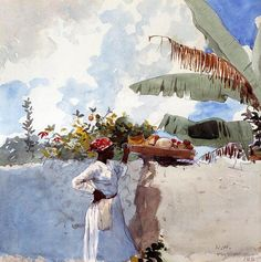 Rest, Watercolour by Winslow Homer (1836-1910, United States)