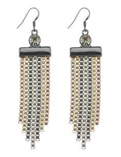 M&S Collection Tassel & Diamanté Drop Earrings