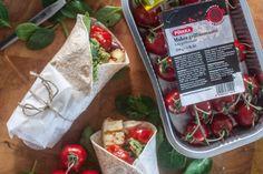 Kaikki äitini reseptit: GRILLATUT TOMAATTI-HALLOUMIWRAPIT Paper Shopping Bag, Mexican, Ethnic Recipes, Food, Essen, Meals, Yemek, Mexicans, Eten