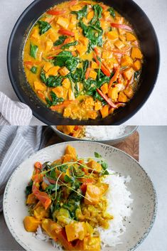 Recipe for a vegetarian Sri Lanka stew with sweet potatoes, peppers, spinach and hot spices. Serve with rice or bulgur. Thai Recipes, Egg Recipes, Snack Recipes, Snacks, Hamburger Meat Recipes, Grilling Recipes, Sri Lanka, Stew, Sweet Potato