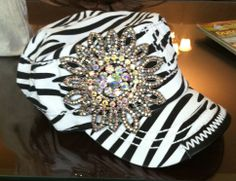 Zebra Bling Cap $40 ***TEMPORARILY SOLD OUT***To pre-order email simplychictoo@gmail.com