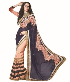 Loved it: Ajay And Vijay Purple Pure Georgette Embroidered Saree, http://www.snapdeal.com/product/ajay-and-vijay-purple-pure/462630324