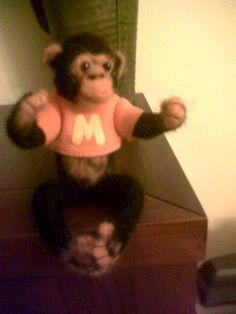 Chimpancé de lana afieltrada: Manny