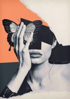 Collage art / butterfly by - art # . - Collage art / butterfly by – # – - Collage Kunst, Art Du Collage, Collage Artists, Photo Wall Collage, Digital Collage, Face Collage, Collage Drawing, Painting Collage, Photo Collage Design