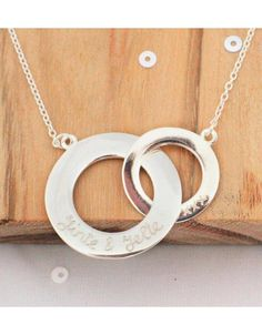 Silver Necklace 'Entwined'