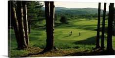 Gallery-Wrapped Canvas entitled Four people playing golf, Country Club Of Vermont, Waterbury, Washington County, Vermont, None