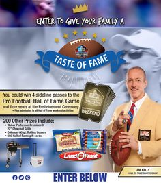 Dailly-2/25. Land O' Frost Taste of Fame Sweepstakes