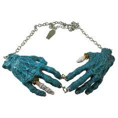 """KREEPSVILLE 666 """"Zombie Hands"""" necklace"""