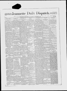 WESTMORELAND COUNTY - JEANETTE - 1891-1893. Jeannette Daily Dispatch - Google News Archive Search