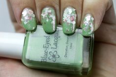 Lime Sherbet With Sprinkles: Blue-Eyed Girl Lacquer's Queen Lime Rose Zinnia and Lynnderella's Bridezilla
