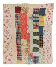 Quilt by Eddie Lee Pettway Green, Blocks and strips, c. 1950