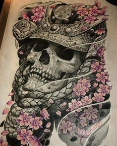 Ghost samurai art/design done by artist 🔥 Samurai Mask Tattoo, Hannya Mask Tattoo, Hanya Tattoo, Yakuza Tattoo, Japanese Dragon Tattoos, Japanese Tattoo Art, Japanese Tattoo Designs, Japanese Sleeve Tattoos, Skull Tattoos