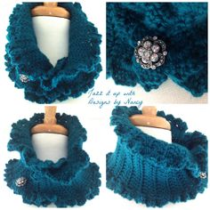 Victorian Hand Crochet Teal Elegant by JazzitUpwithDesigns on Etsy, $40.00