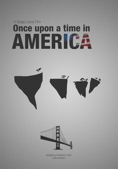 Once Upon a Time in America (1984) ~ Minimal Movie Poster by Francesco Turla #amusementphile