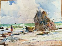 Painting by Charles Reid.  I would like to take a watercolor workshop some day.