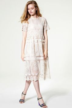 Isabella Guipure Lace Dress Discover the latest fashion trends online at storets.com