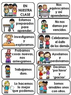 In Our Classroom: Classroom Expectations in English and Spanish.  This is a set of cards to be printed and displayed in the classroom. There are 15 cards in English and the same 15 cards in Spanish.
