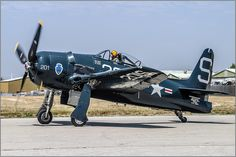 The Commemorative Air Force's Bearcat taxiing out to participate in the Planes of Fame Air Museum's airshow. Grumman Aircraft, Navy Aircraft, Ww2 Aircraft, Fighter Aircraft, Military Aircraft, Fighter Pilot, Fighter Jets, Ghost Rider, Aviation World