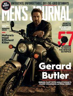 Gerard Butler on the February 2018 cover of Men's Journal