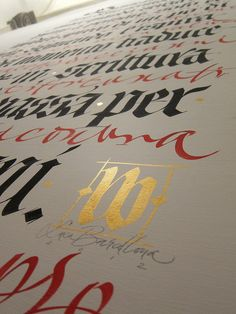 DIALOGO close up - Spoleto, Collicola on the Wall, Palazzo Collicola 2012. by Luca Barcellona - Calligraphy & Lettering Arts, via Flickr