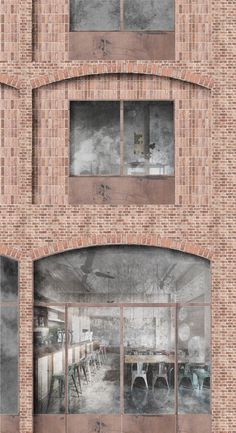 White Arkitekter Wins Competition with Brick Housing Development in Stockholm Royal Seaport,Facade Detail. Image Courtesy of White Arkitekter The Effective Pictures We Offer You About facade material Architecture Design, Architecture Visualization, Architecture Graphics, Commercial Architecture, Architecture Drawings, Facade Design, Architecture Illustrations, Brick Detail, Win Competitions