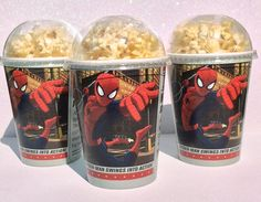 Set of 8 - Spiderman Party Cups, PopCorn Box, Disney Party, SpiderMan Birthday Cups on Etsy, $9.50 CAD