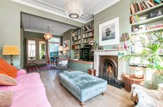 Greene & Co is fully immersed into the Hamptons brand 4 Bedroom House, Living Room Bedroom, Living Room Knock Through, Extension Ideas, Reception Rooms, Room Interior, Brighton, Cosy, Ottoman
