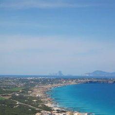 Stunning view of Formentera...