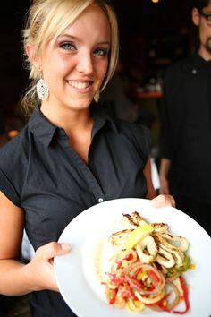 Server at award winning Italian Restaurant, Il Piatto Italian Farmhouse Kitchen Santa Fe