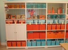 aqua and orange bedroom - Google Search