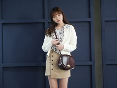 10's trendy style maker 66girls.us! Off-Center Button Accent Skirt (DGQW) #66girls #kstyle #kfashion #koreanfashion #girlsfashion #teenagegirls #fashionablegirls #dailyoutfit #trendylook #globalshopping