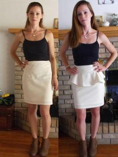 DIY Clothes DIY Refashion : DIY Removable Peplum Skirt Two Ways