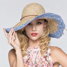 Bow wide brim straw hat for women package floppy sun hat travel wear