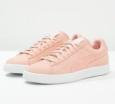 puma suede classic womens pink bronze