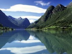 Olden, Norway   The Nordfjord spreads into three long branches and its southernmost branch terminates at Olden. From there, nature runs its course to the beautiful Oldedalen Valley, the stunning Jostedal Glacier and the glittering lakes, Olden and Floen