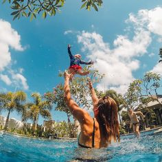 #Repost @gopro  Photo of the Day! @captain_kookman returned from the beach to the sounds of his wife @lauren_luckiest and their kids splashing around the pool during a vacation in #Bali. Share your family vacations with us by following the link in our profile. #armorx