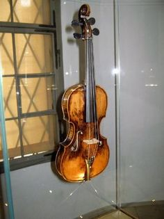 Mozart's violin. Taken at Mozart's birthplace, Salzburg, Austria.