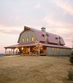 Barn Great Plains Gambrel Barn project by Sand Creek Post & Beam. View this gallery for ideas on your next dream barn. Metal Building Homes, Metal Homes, Building A House, Future House, My House, House Kits, House Ideas, Casas Containers, Barn House Plans