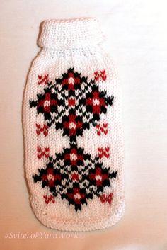 Knit Ukrainian Pattern Vyshyvanka for Small Dog. Dog Pattern Sweater. Ukrainian pattern. Sweater for Small Dog.Vyshyvanka. Size XS