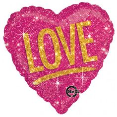Anagram 17 inch Love Shimmers Balloon Love is in the air when you fly this Heart Shimmer Love Balloon. It features dazzling gold  'Love ' headline against a shimmering background that looks like pink glitter on both sides. This pink heart balloon is perfect for your anniversary, Valentine's Day, or any other celebration of love. You can even add matching latex balloons for a larger display.QUALITY PRODUCTS ALWAYSOUR PRODUCTS ARE 100% AUTHENTIC & GENUINE100% OF THE TIME Foil balloons make…