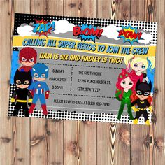 Jay's Second Birthday ideas Mickey Minnie Mouse Twin Invitation, MicAvengers Birthday Superhero Invite - Superhero boys and girls - Twin or Sibling Birthday Party Invite - Printable File by CreativeKittle on Etsy Double Birthday Parties, Sibling Birthday Parties, Second Birthday Ideas, Twin Birthday, Daughter Birthday, Superhero Invitations, 30th Birthday Invitations, Twin Boys Birthdays, Boy Birthday Pictures