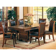 Esquire Bold Double Pedestal Table and Chair Set