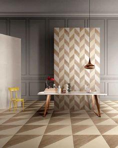 [ Younhyun Tile / 윤현상재 타일 ] Triagle Tile : Blend Clay , White / Size (cm) : 20X20 , 60X60