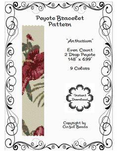 Peyote Bracelet Pattern Tropical Flower by CinfulBeadPatterns